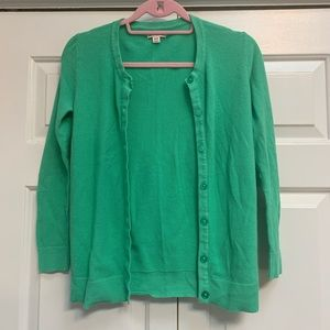 Green Cotton Cardigan
